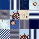 Patchwork sea military fashion Stock Photography