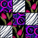 Patchwork seamless abstract pattern background Stock Photo