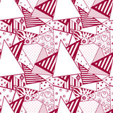 Patchwork seamless abstract pattern background Royalty Free Stock Image