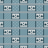 Patchwork seamless abstract pattern light blue background. Stock Photo