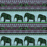 Patchwork seamless african pattern Royalty Free Stock Image