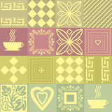 Patchwork seamless bright pattern with elements background Stock Photos