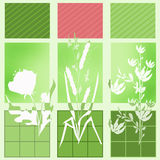 Patchwork seamless bright retro pattern with flowers Stock Photo