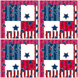 Patchwork seamless bright retro stars pattern background Stock Images