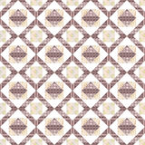 Patchwork seamless brown geometric pattern background Royalty Free Stock Images