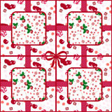 Patchwork seamless candy pattern berries Stock Images