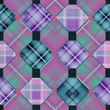 Patchwork seamless checkered pattern background Royalty Free Stock Photos