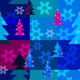 Patchwork seamless christmas pattern with geometric elements bac Royalty Free Stock Image