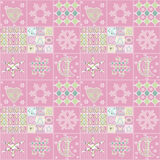 Patchwork seamless christmas pattern geometric elements backgrou Royalty Free Stock Photography