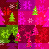 Patchwork seamless christmas pattern geometric elements Royalty Free Stock Photography