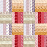 Patchwork seamless floral butterflies pattern texture background Stock Photography