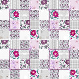 Patchwork seamless floral dotted pattern Royalty Free Stock Photo