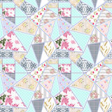 Patchwork seamless floral lace pattern Royalty Free Stock Images