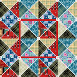 Patchwork seamless floral lace retro pattern. Background Royalty Free Stock Photos