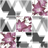 Patchwork seamless floral lilly pattern texture background Royalty Free Stock Photo