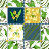 Patchwork seamless floral pattern background Royalty Free Stock Photos