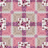 Patchwork seamless floral pattern background Royalty Free Stock Photo