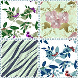 Patchwork seamless floral pattern background Royalty Free Stock Image