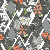 Patchwork seamless floral pattern gray to white background. Patchwork seamless floral pattern texture gray to white background Royalty Free Stock Photo