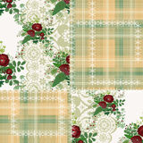 Patchwork seamless floral pattern ornament Royalty Free Stock Photography