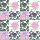 Patchwork seamless floral pattern ornament background Stock Photo