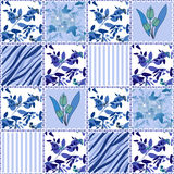 Patchwork seamless floral pattern texture background Royalty Free Stock Photography