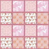 Patchwork seamless floral pattern texture background Stock Images