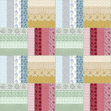 Patchwork seamless floral pattern texture background Royalty Free Stock Photo