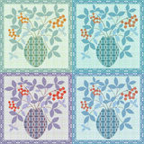 Patchwork seamless floral pattern texture background Stock Photography