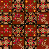 Patchwork seamless floral pattern texture background decorative Royalty Free Stock Photos
