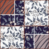 Patchwork seamless floral pattern texture background Stock Photo