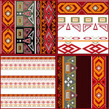 Patchwork seamless geometric folk pattern background Royalty Free Stock Photography