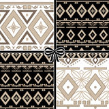 Patchwork seamless geometric folk pattern background Royalty Free Stock Image