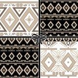 Patchwork seamless geometric folk pattern background Royalty Free Stock Image