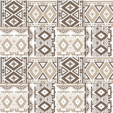 Patchwork seamless geometric folk pattern background Royalty Free Stock Photos