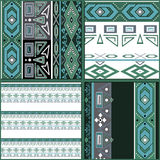 Patchwork seamless geometric folk pattern background Stock Photography