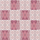 Patchwork seamless geometric folk pattern background Royalty Free Stock Photography