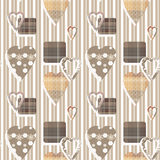 Patchwork seamless geometric pattern texture background Royalty Free Stock Images