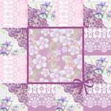 Patchwork seamless lace floral pattern Royalty Free Stock Photos