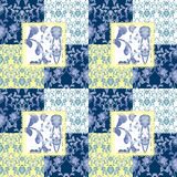 Patchwork seamless lace floral pattern Stock Image