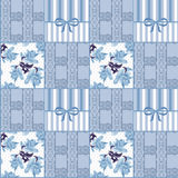 Patchwork seamless lace floral pattern background Stock Images