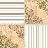 Patchwork seamless lace floral pattern beige. Background Stock Images