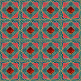 Patchwork seamless lace retro floral pattern Stock Images