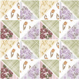 Patchwork seamless lace retro floral pattern Stock Image