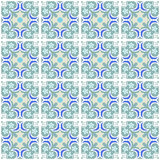 Patchwork seamless ornamental pattern background Royalty Free Stock Photos