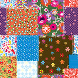 Patchwork seamless pattern Stock Photo
