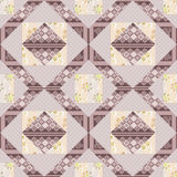 Patchwork seamless pattern background with decorative elements Stock Photography