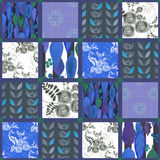 Patchwork seamless pattern background Stock Photography