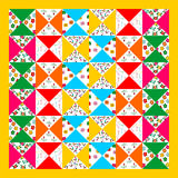 Patchwork seamless pattern Stock Images