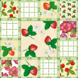 Patchwork seamless pattern berries Royalty Free Stock Image